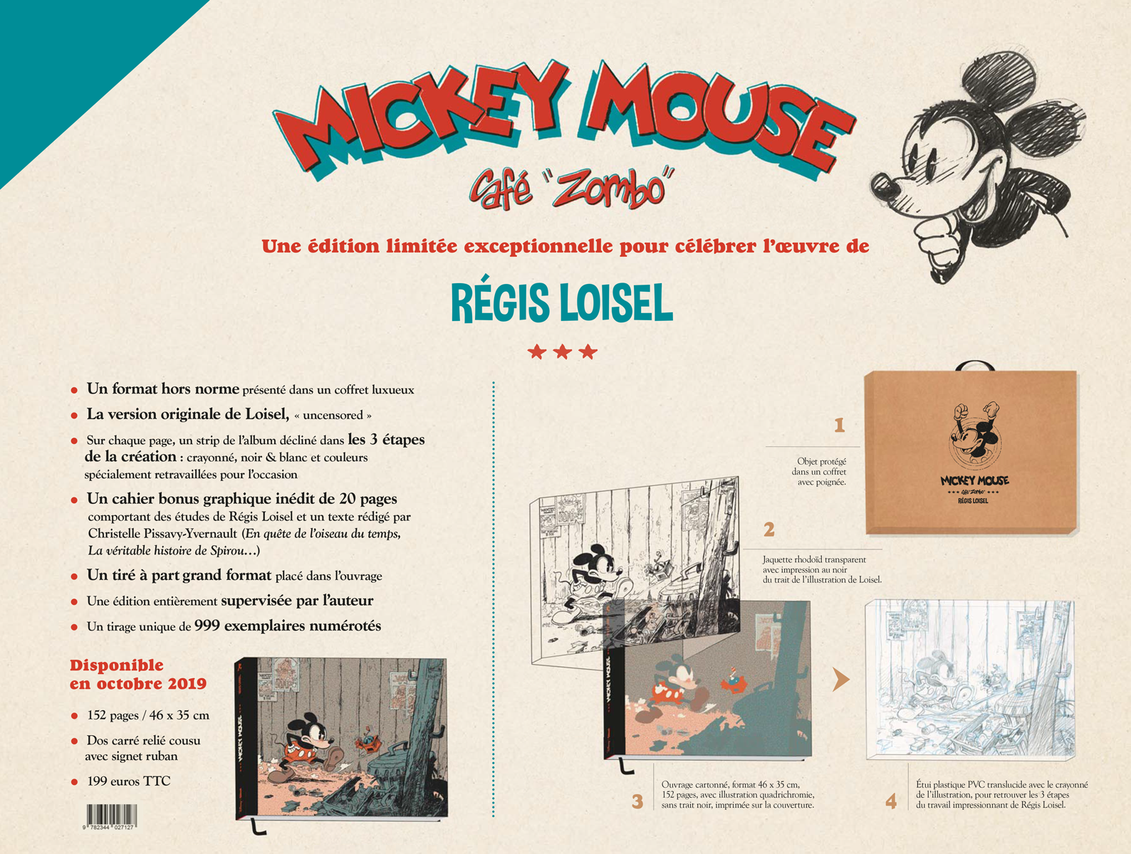 Mickey Mouse Caf 233 Zombo Tirage De Luxe R 233 Gis Loisel