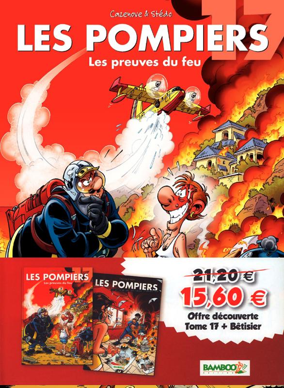 Les pompiers pack d couverte tome 17 b tisier st do christophe cazenove humour - Dessin pompier humoristique ...