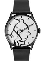 Rayon : Objets, Série : Tintin, Montre Classic Noire : Tintin & Co : Tintin (Taille L)