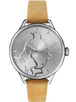 Rayon : Objets, Série : Tintin, Montre Classic Beige : Tintin & Co : Tintin (Taille M)