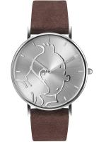 Rayon : Objets, Série : Tintin, Montre Classic Brune : Tintin & Co : Tintin (Taille S)