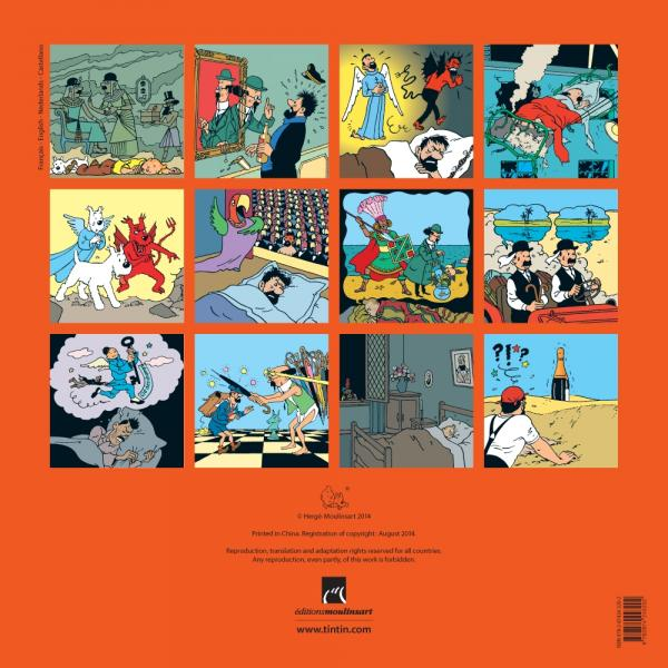Tintin calendrier mural dition 2015 herg bdnet com for Calendrier mural 2015