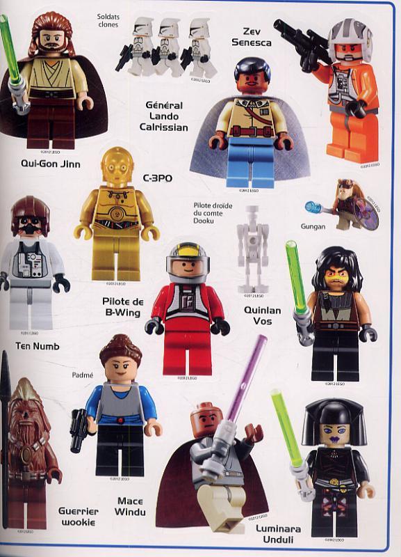 L 39 album des autocollants que la force soit avec toi collectif helen murray art - Lego star wars personnage ...