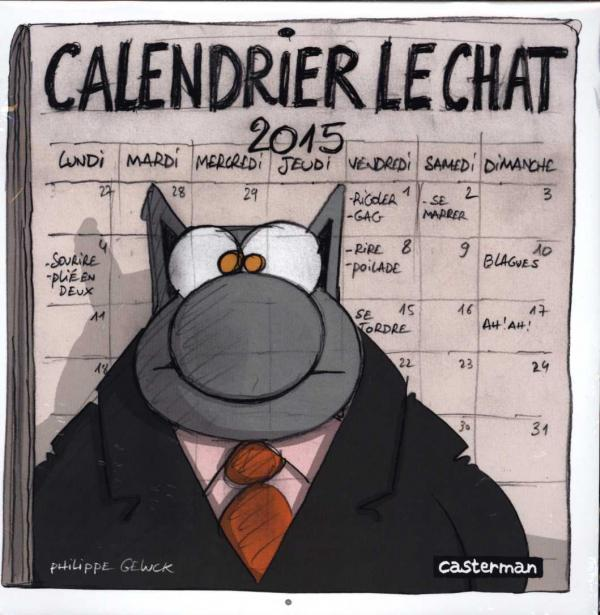 Calendrier mural le chat 2015 philippe geluck bdnet com for Calendrier mural 2015