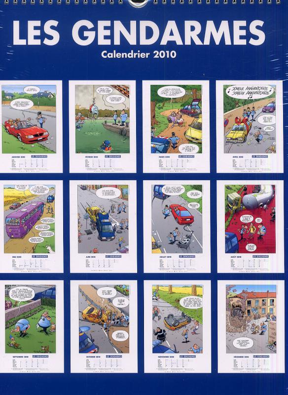 calendrier mural les gendarmes 2010 bdnet com. Black Bedroom Furniture Sets. Home Design Ideas