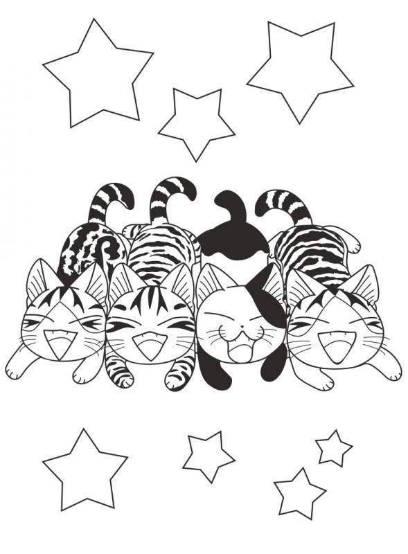 Coloriage Une Vie De Chat.Chi Activites Mes Coloriages Konami Kanata Shojo Bdnet Com