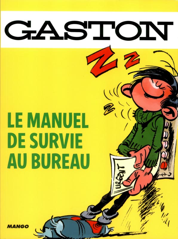 gaston le manuel de survie au bureau franquin humour bdnet com. Black Bedroom Furniture Sets. Home Design Ideas