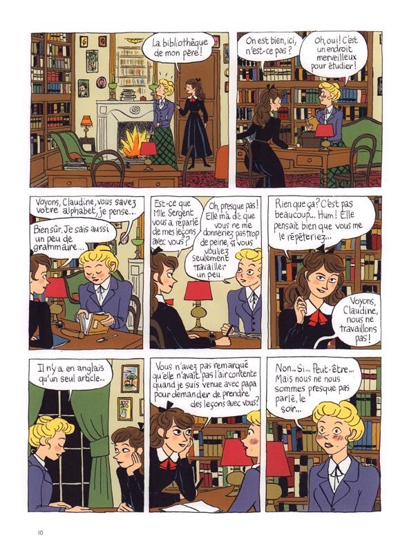 Claudine à l'école de Colette adaptée par Lucie Durbiano (BD) 9782070599769_pg