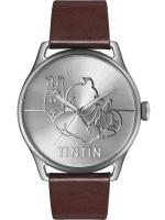 Rayon : Objets, Série : Tintin, Montre Classic Brune : Tintin Soviet : Voiture (Taille L)